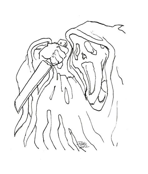 Information About Ghost Face Coloring Pages Yousense Info
