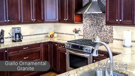 top  granites  dark cabinets youtube