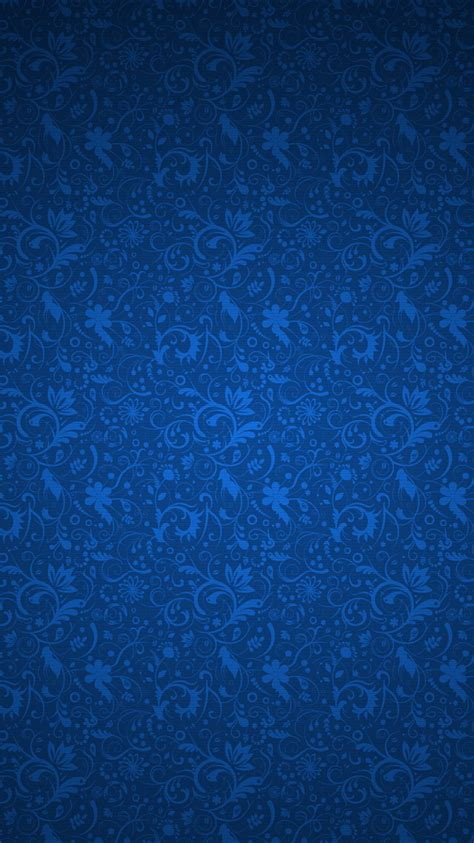 Pattern Iphone Wallpaper by Blue Floral Ornament Pattern Iphone 6 Wallpaper Hd Free