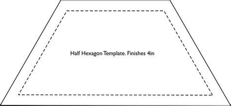 hexagon template fin   sizes