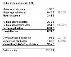 Variable Kosten Pro Stück Berechnen : kostentr gerrechnung der ~ Themetempest.com Abrechnung