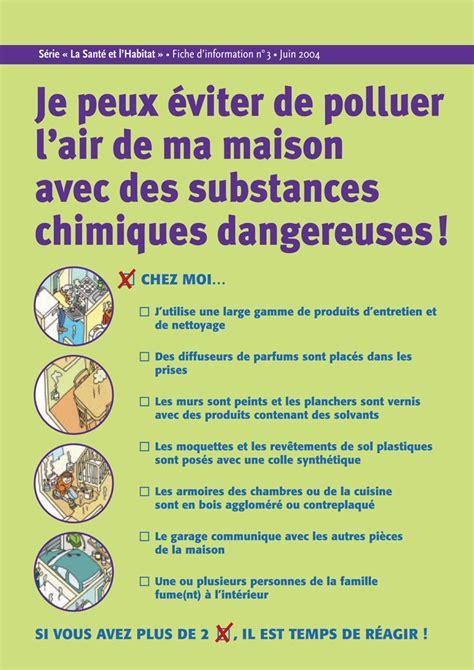 je peux 233 viter de polluer l air de ma maison avec des substances chimiques dangereuses fiche
