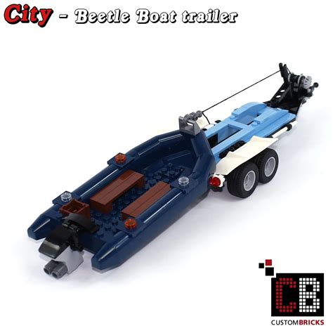 Lego Boat Weight by Custombricks De Lego Custom Modell Trailer Boat Out Of