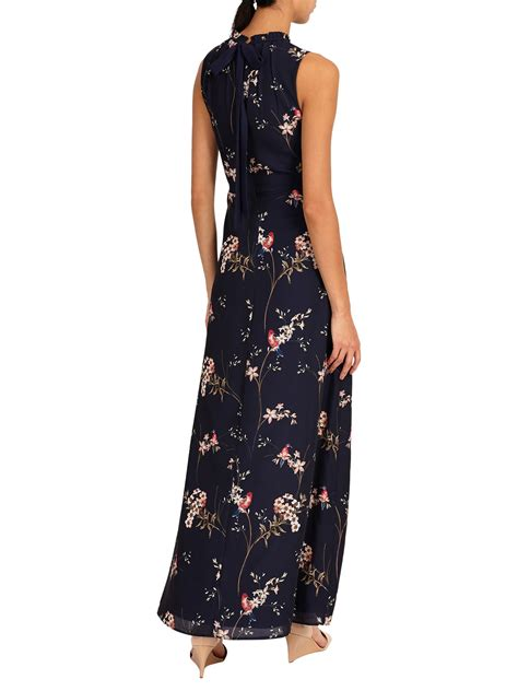 phase  gaynor floral print maxi dress wholesale navy