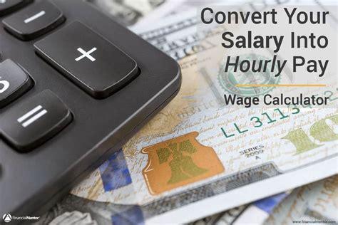 wage calculator convert salary  hourly pay