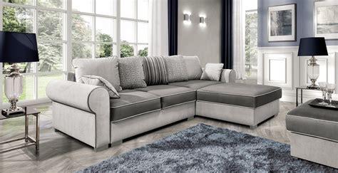 Canapé D'angle Convertible Select Beige Et Gris