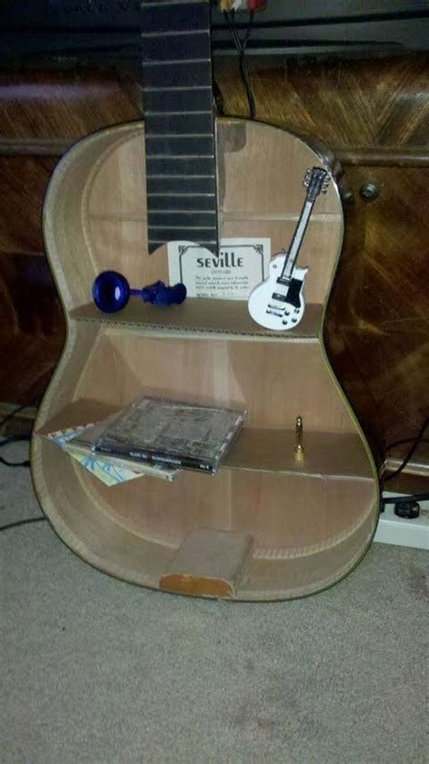 acoustic guitar shelf  shelf decorating  woodwork