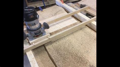 wood slab flattening   handheld router youtube