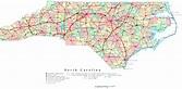North Carolina Printable Map