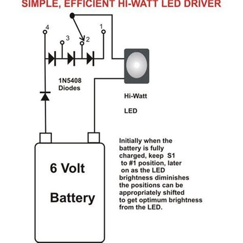 the post explains a simplest 1 watt led driver circuit