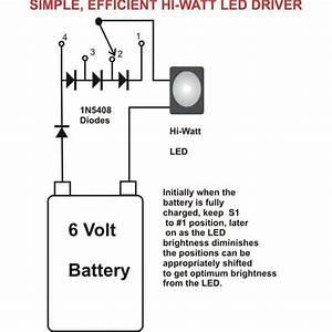 Wiring Diagram Ref  Simplest Efficient 1 Watt Led Driver