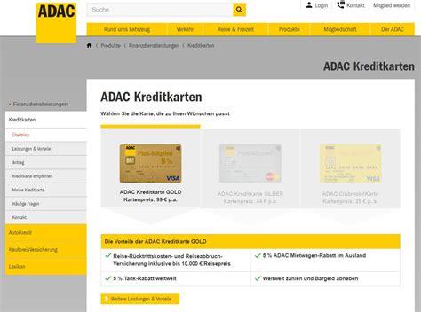 adac kreditkarten beste kreditkarte