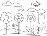 Coloring Pages Gardening Garden Flower Tools Spring Flowers Butterflies Printable Gardens Sheets Vegetable Colouring Getcolorings Dari Disimpan sketch template