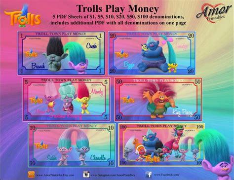 trolls play money bonus bookmarks printable games printable