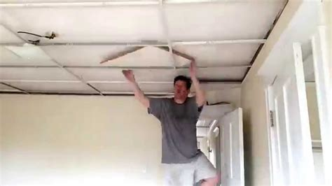 replace drop ceiling time lapse removal of drop ceiling tiles 1866