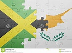 Puzzle With The National Flag Of Cyprus And Jamaica Stock ...