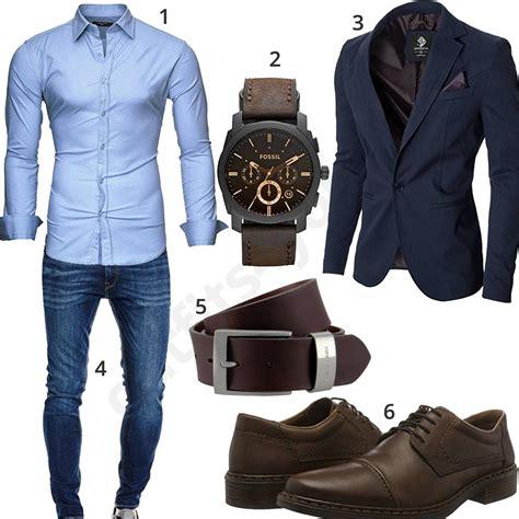 cooles business outfit mit blauem sakko  sneaker