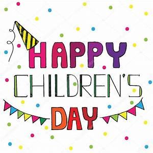 다 색 원이 행복 한 어린이 날 인사말 카드 — 스톡 벡터 © ellina200@mail.ru ...