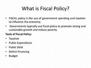 Fiscal policy updated