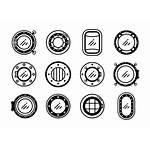 Bullauge Icons Porthole Vektor Vecteezy Bearbeiten
