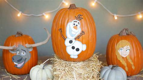 pumpkin painting  halloween frozen disney family