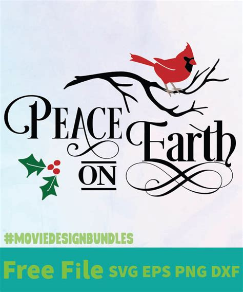 Get crafting with this exclusively designed christmas svg cut file freebie. PEACE ON EARTH FREE DESIGNS SVG, ESP, PNG, DXF FOR CRICUT ...