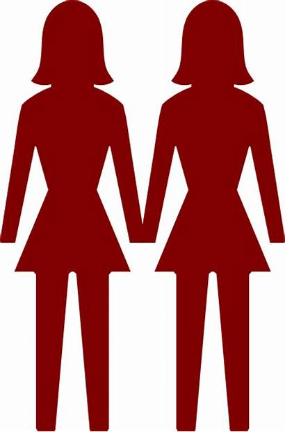 Lesbian Woman Icon Clip Clipart Groups Svg