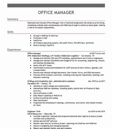 Office Manager Resume Objective by Office Manager Objectives Resume Objective Livecareer