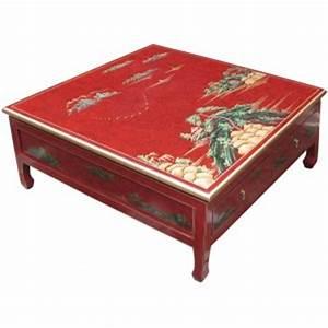Table Basse Chinoise : table basse chinoise 4 tiroirs laque rouge magasin du ~ Melissatoandfro.com Idées de Décoration