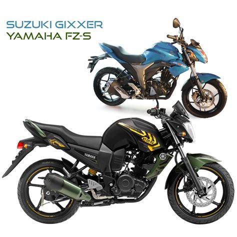 Suzuki Vs Yamaha by Suzuki Gixxer Vs Yamaha Fz S Motorbike Review Motorcycle