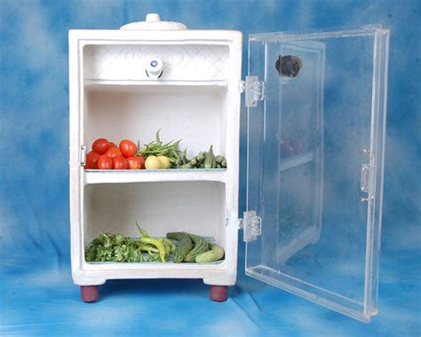 electric food storage clay fridge