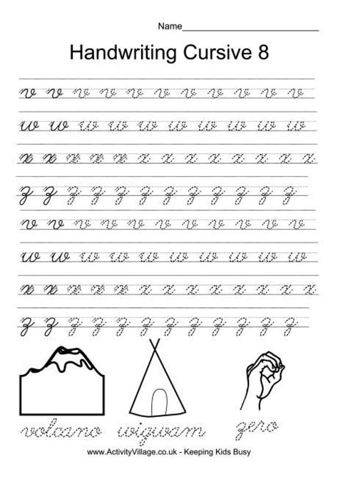 handwriting practice cursive 8 smart kids printables pinterest handwriting