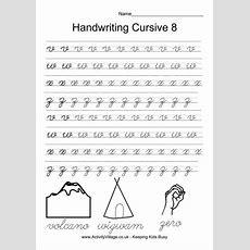 Handwriting Practice Cursive 8  *♣* Smart Kids Printables *♣*  Handwriting Practice, Cursive