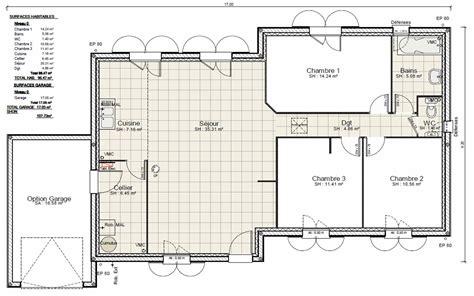 plan de maison plein pied gratuit 3 chambres simple faire plan maison plein pied gratuit faire