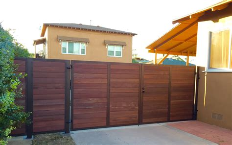 Fence - Gate : Steel Framed Wood Gates-custom Steel Framed And Wood