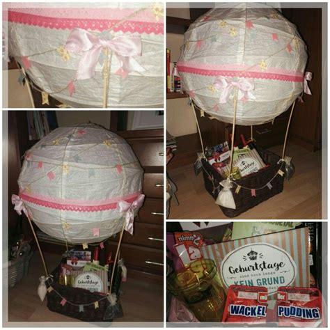 heißluftballon basteln geschenk hei 223 luftballon ballon geschenk geldgeschenk geburtstag hochzeit wedding birthday made