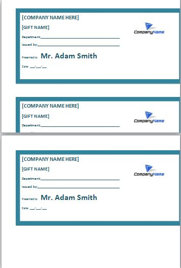 employee gift certificate template  dotxlsorg