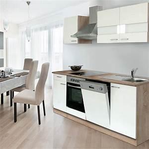 Küchenzeile 220 Cm Geschirrspüler : respekta k chenzeile kb220eswc breite 220 cm wei bauhaus ~ Bigdaddyawards.com Haus und Dekorationen