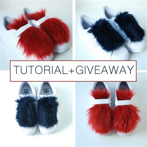 Faux Fur Sneakers  Tutorial & Giveaway  The Petite Cat
