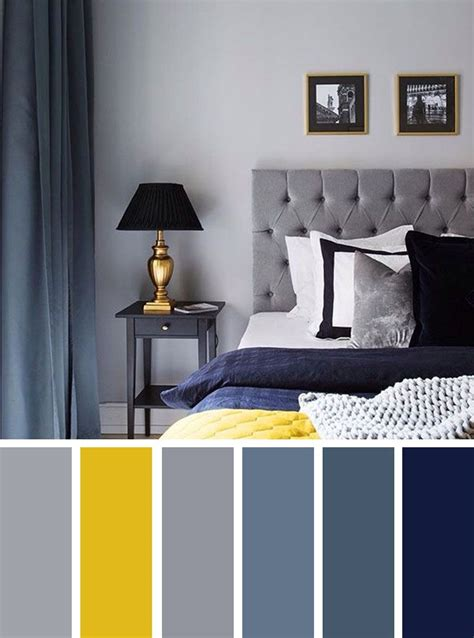 Bedroom Color Schemes Yellow by Best 25 Blue Grey Rooms Ideas On Bedroom