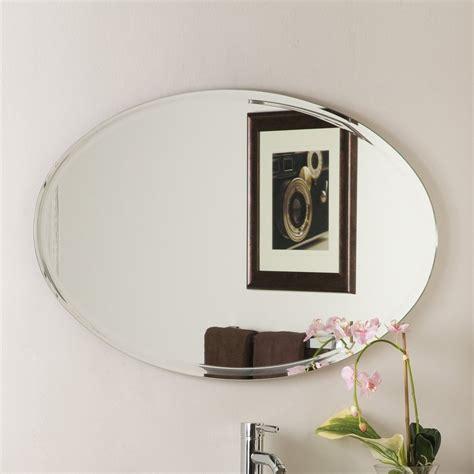 How To Frame An Oval Bathroom Mirror by Decor 39 4 In Oval Bathroom Mirror At Lowes