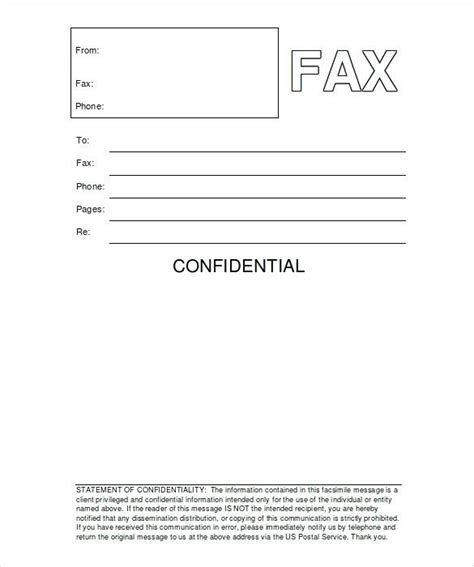 12808 business fax cover sheet template fax confidentiality statement cover sheet pages