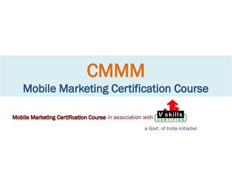 mobile marketing course certified mobile marketing master course