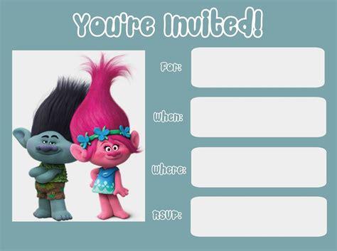 Trolls Invitation Templates Free by Musings Of An Average Mom Trolls Movie Invitations
