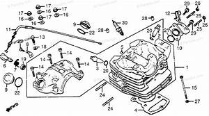 Honda Motorcycle 1983 Oem Parts Diagram For Cylinder Head