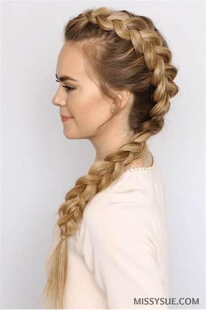 Mohawk Braid Dutch Hairstyles Side Hair Braids