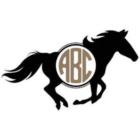 horse monogram svg etsy