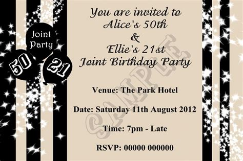 birthday invitation card template for adults joint birthday invitations for adults birthday