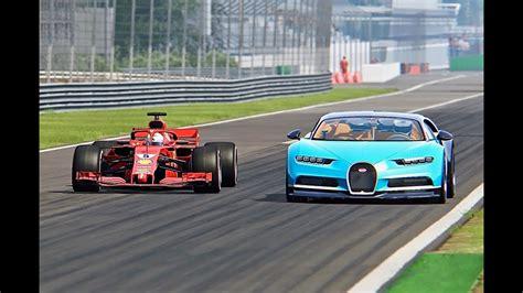 Bugatti Chiron Vs Ferrari F1 2018