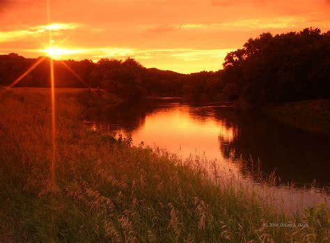 river bank sunset in high resolution hd desktop wallpaper